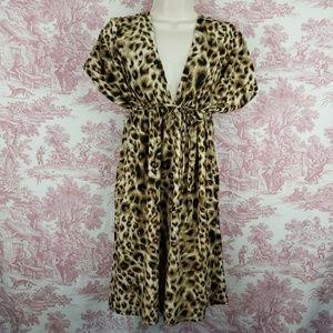Christinalove Dress Animal Print Size L Plunge